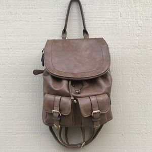 Gorgeous Tan Leather Backpack